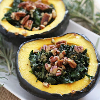 Garlic and Kale Acorn Squash