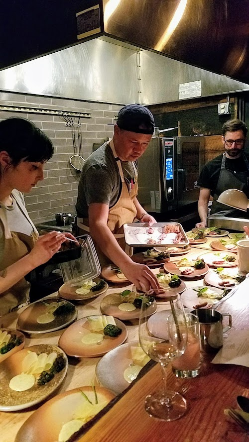 Langbaan PDX Chefs Who Inspire Dinner with Justin Woodward, Third course of Duck, apple, broccolini