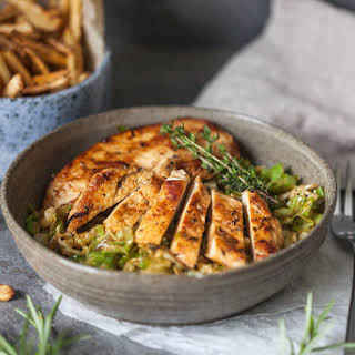 Rosemary Grilled Chicken on Cabbage.