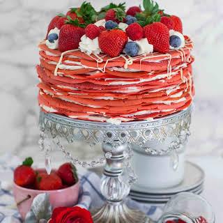 Red Velvet Crepe Cake.