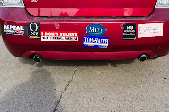 Photo: With the 2012 Presidential election only a few weeks away I think whoever owns this car still needs to make up their mind on who they are going to vote for.