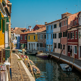 by Mario Horvat - City,  Street & Park  Historic Districts ( water, parking, touristic, italia, boats, burano, architecture, travel, canal, italy )
