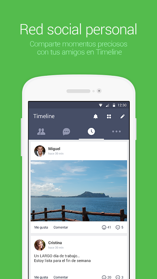LINE: Llama y mensajea gratis - screenshot
