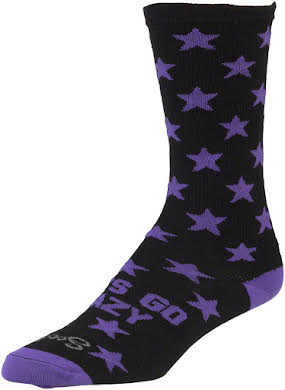 All-City Lets Go Crazy Sock: Purple/Black alternate image 0