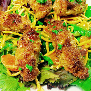 Sticky Chicken Finger Salad