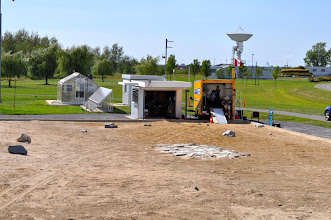 Photo: A view of our portable command and control shelter.