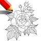 flower drawing and colouring book games for PC-Windows 7,8,10 and Mac