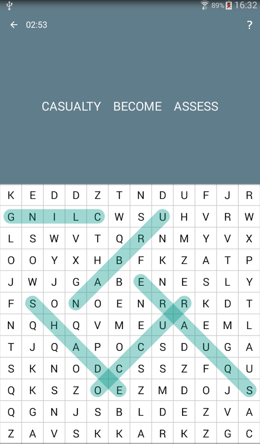 Screenshots of Word Search for iPhone