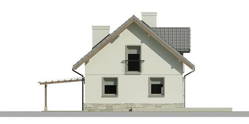 Dom przy Cyprysowej 35 - Elewacja tylna