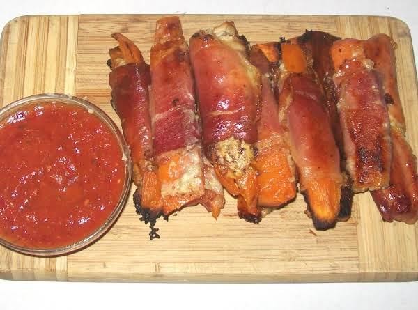 Prosciutto Fingers With Marinara Dipping Sauce Recipe