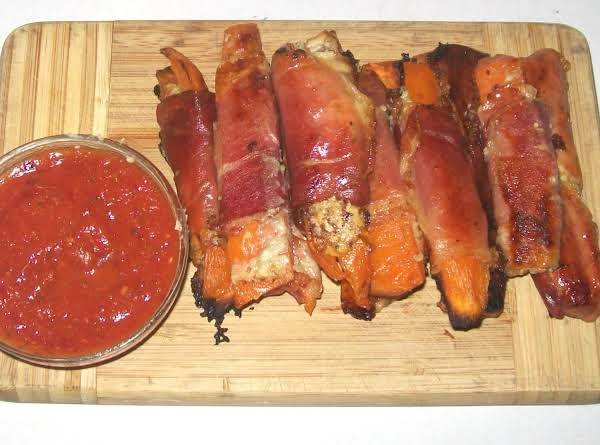 Prosciutto Fingers With Marinara Dipping Sauce