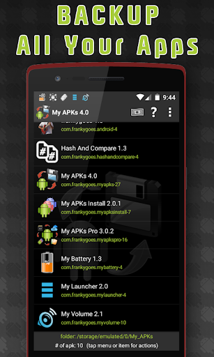 My APKs - backup restore share manage apps apk 4.2 screenshots 1