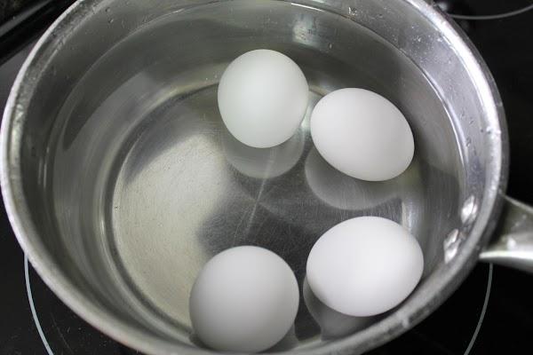 Hard boil your eggs.