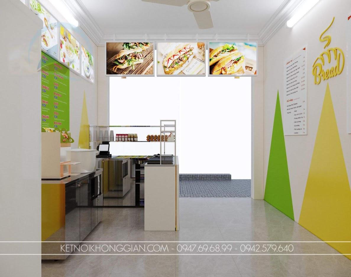 mẫu thiết kế cửa hàng cháo dinh dưỡng đẹp