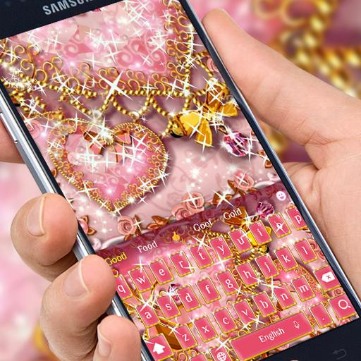 Pink Diamond Gold heart Theme