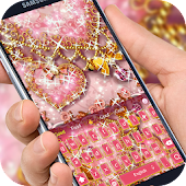 Pink Diamond Gold heart Theme
