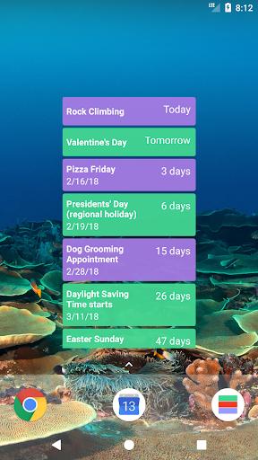 Calendar Countdown List Widget screenshots 1