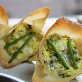 Artichoke, Gorgonzola and Chive Tarts