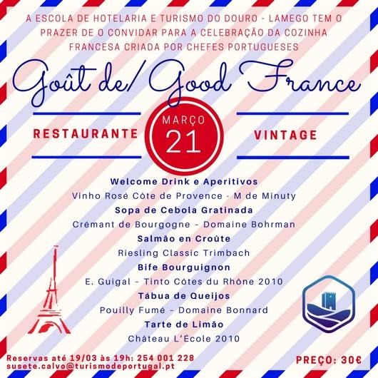 O Restaurante Vintage selecionado para a 4ª Edição do Goût de/Good France