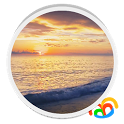Sunset Beach Live Wallpaper icon