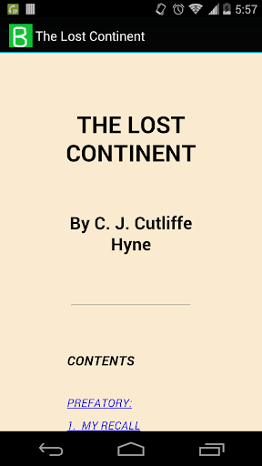 The Lost Continent by Hyne