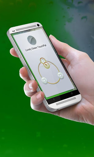可愛的綠色 TouchPal 皮膚Pífū