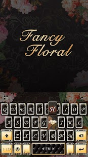 Fancy Floral Keyboard Theme - náhled