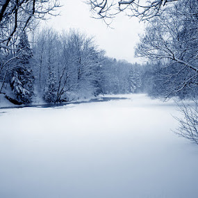Frozen River by Jean Photo-Vigneault - Landscapes Weather