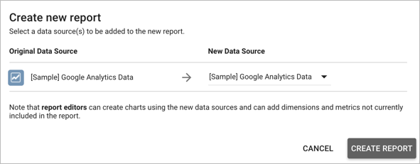 Select data sources dialog