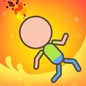 Stickman Burning icon