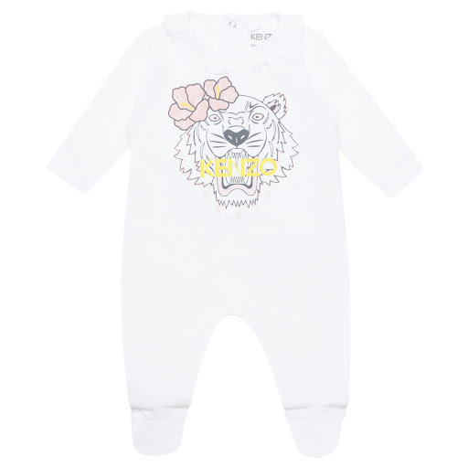 Primary image of Kenzo Kids Cotton Tiger Sleepsuit