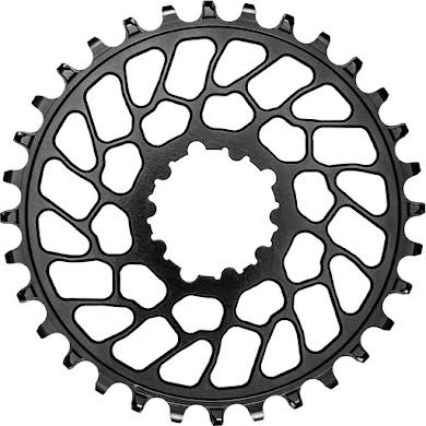 Absolute Black Round Narrow-Wide Direct Mount Chainring - SRAM 3-Bolt Direct Mount, 0mm Offset