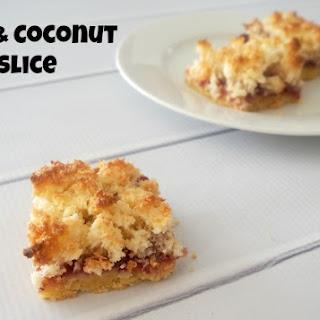 Jam and Coconut Slice
