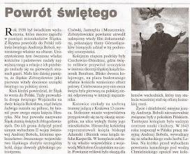 """Photo: Artykuł prasowy Dwutygodnik """"Jastrząb"""", Jastrzębie Zdrój, 2003 r. (fragment)"""