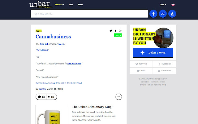 Urban Dictionary Lookup