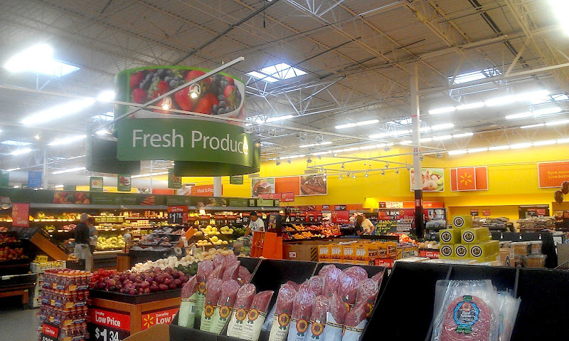 Photo: My sister had lap band surgery in March 2011 and she is doing amazingly well. She is working to help her husband get healthy now so we stopped to visit the fresh produce in Walmart first. The Woodlands Walmart had a beautiful produce section.