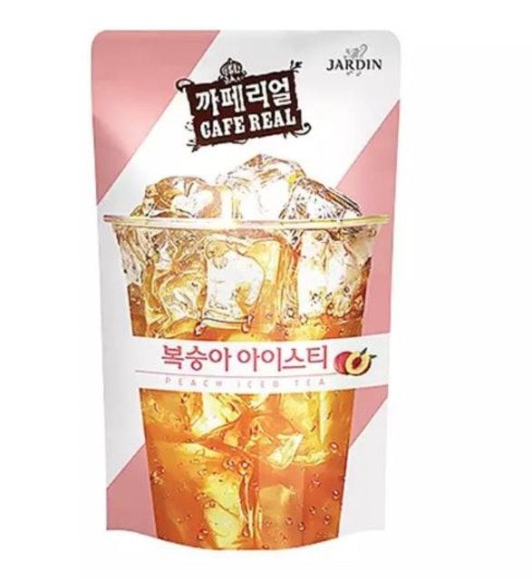 1. ชาพีช Jardin Cafe Real Peach Iced Tea