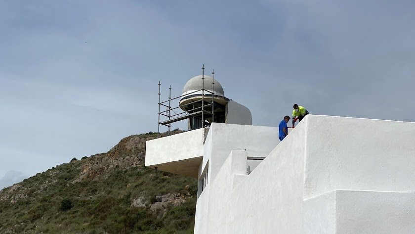 Aspecto actual del nuevo Faro de Mojácar.