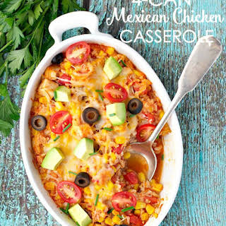 4 Can Mexican Chicken Casserole.