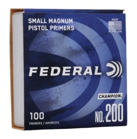 Federal Primers Small Pistol Magnum Primers No 200