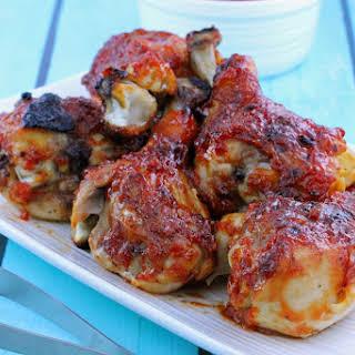 Honey-Garlic Barbecue Chicken Drumsticks.