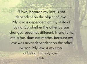 - Osho on 'love'.