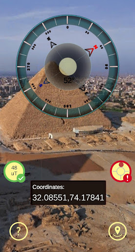 Gyro Compass 3D True North Finder with GPS Maps screenshot 5