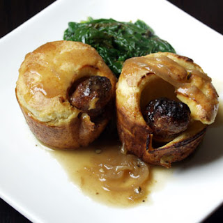 : Toad in the Hole with Crock Pot Onion Gravy