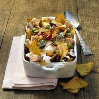 Überbackene Bohnen mit Taco-Chips