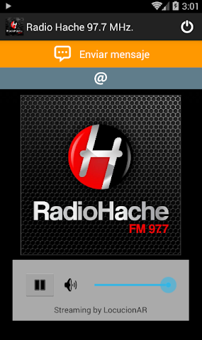 android Radio Hache 97.7 MHz. Screenshot 1