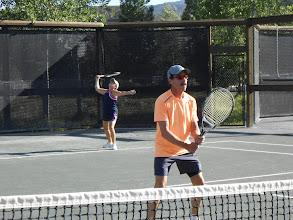 Photo: Tennis social event Doug and Nina Factor