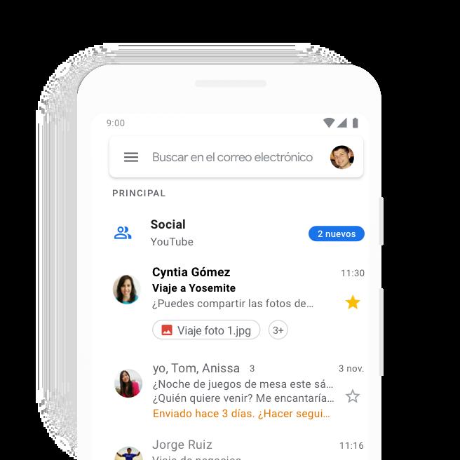 Gmail Correo Electrónico Y Almacenamiento Gratuitos De Google