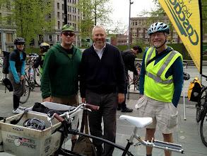 Photo: Bike to Work 12: Hugga + Mayor
