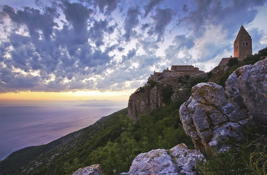 Lubenice, Croatia by H S - City,  Street & Park  Vistas ( village, cliff, croatia, lubenice )